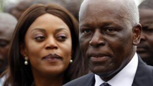 Presidente angolano, José Eduardo dos Santos e a primeira dama, Ana Paula
