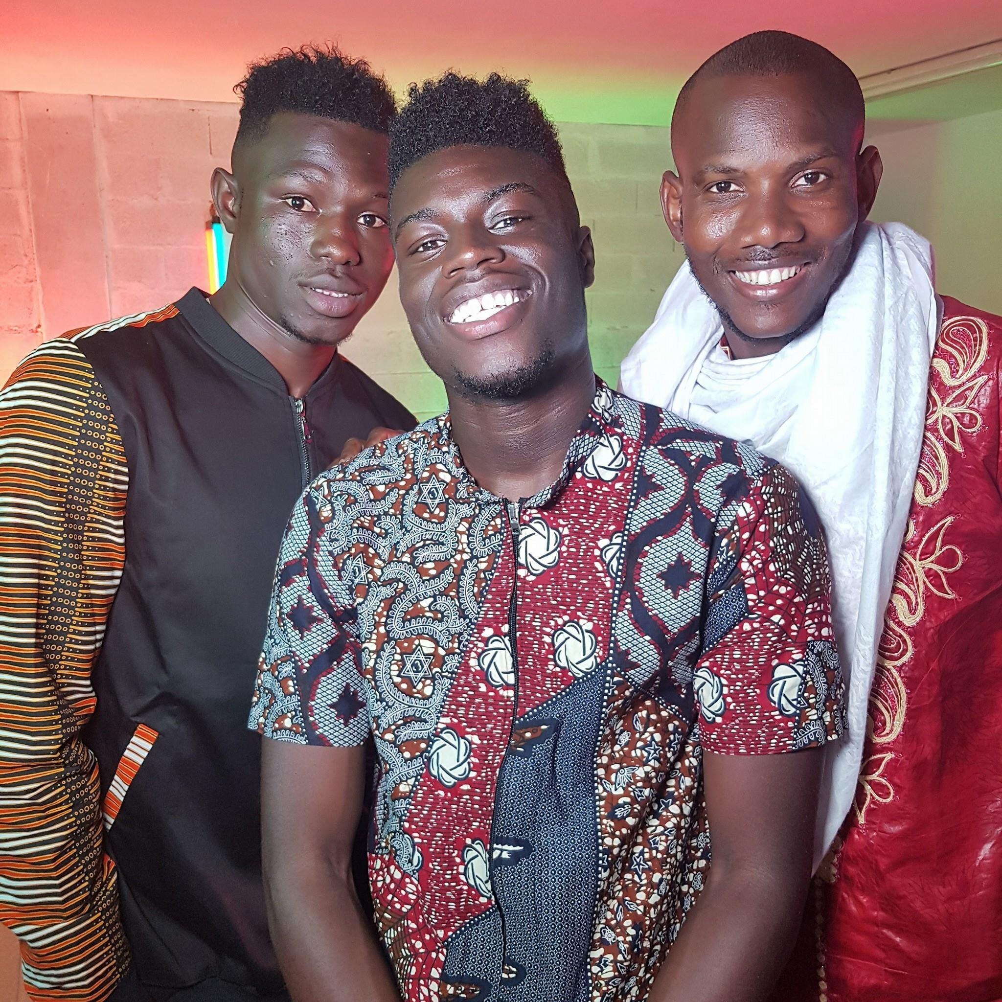 Mamoudou Gassama, Saga Love et Lassana Bathily.