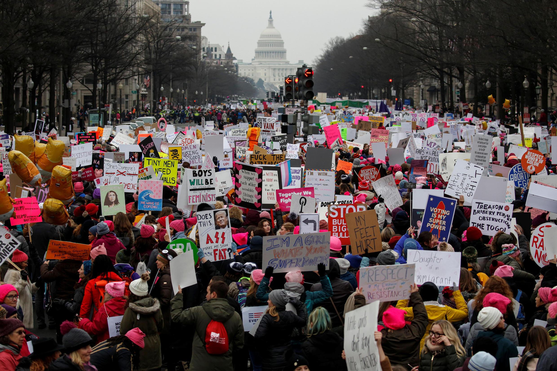 Hàng ngàn người đã tham gia cuộc tuần hành vì nữ quyền - Women's March - tại Washington D.C (Hoa Kỳ), ngày 19 tháng 1 năm 2019.