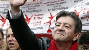 Jean-Luc Mélenchon photographed on May 1, 2013 in Paris.