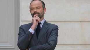 French Prime Minister Edouard Philippe takes part in a news conference after the first Council for Environmental Defence at the Elysee Palace in Paris, France May 23, 2019.