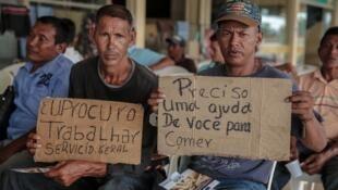 Refugiados venezuelanos procuram trabalho em Boa Vista, capital de Roraima, em outubro de 2017.