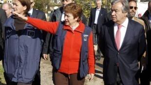 Antonio Guterres e Kristalina Georgieva. 15/12/2012.