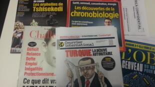 Capas de magazines news franceses de 25 de fevereiro de 2017