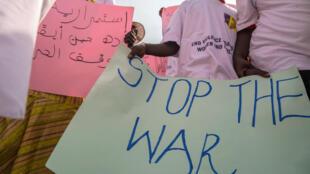 Wanawake wakiandamana Juba, Desemba 9, 2017,wakiomba vita vikomeshwe Sudan Kusini.