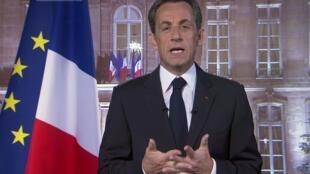 Tổng thống Pháp Sarkozy đọc lời chúc mừng năm mới 2011
