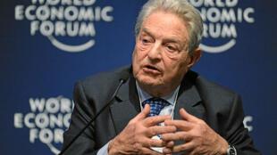 Tỷ phú George Soros, nhà sáng lập Quỹ Soros, tại Diễn đàn Kinh tế Thế giới, năm 2011. Ảnh minh họa.