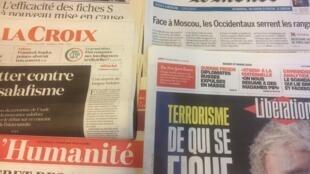Primeiras páginas dos jornais franceses de 27 de março de 2018