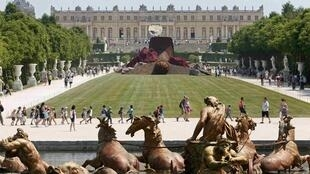 A view of the Versailles castle, west of Paris. The site attracts around 8 million visitors a year.
