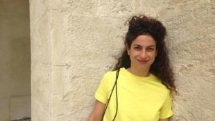 A bailarina e coreógrafa cabo-verdiana Marlene Monteiro Freitas no pátio da Cité Internationale de la Danse de Montpellier, no sul da França.