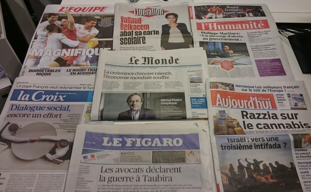 Diários franceses 19/10/2015