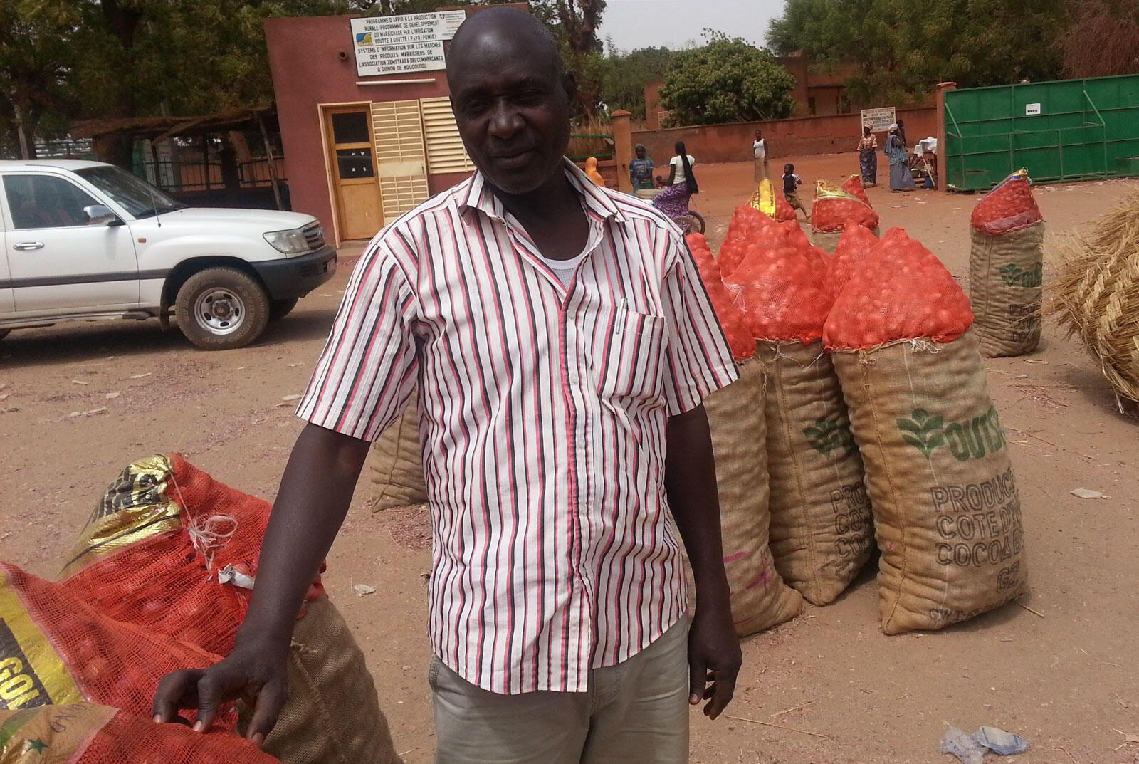 Nassa Adama, secrétaire général de l'association Zemstaaba des producteurs d'oignon de Koudougou, et vice-président de l'interprofession de la filière oignon du Burkina Faso.