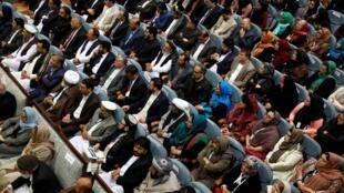 La asamblea 'loya jirga', el 29 de abril de 2019 en Kabul, Afganistán.