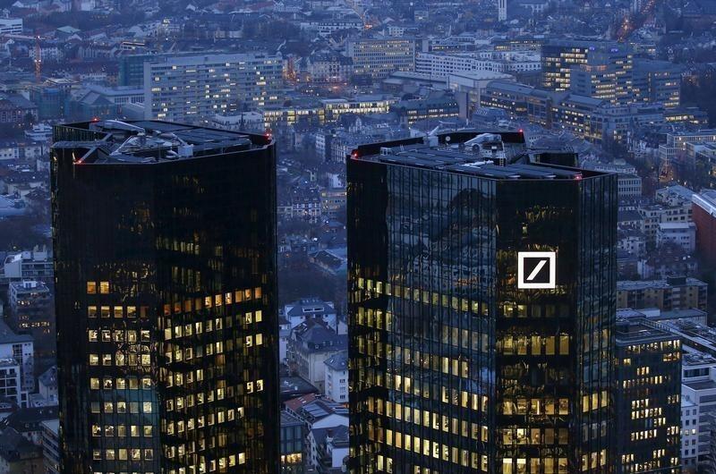 Trụ sở Deutsche Bank tại Frankfurt, Đức, ngày 26/01/2016.