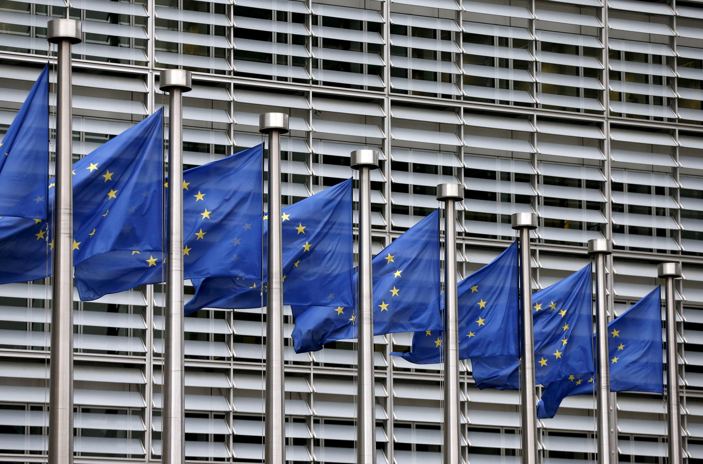 Union européenne-commision européenne-drapeaux