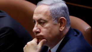 Le Premier ministre israélien sortant Benyamin Netanyahu à la Knesset, le 3 octobre 2019.