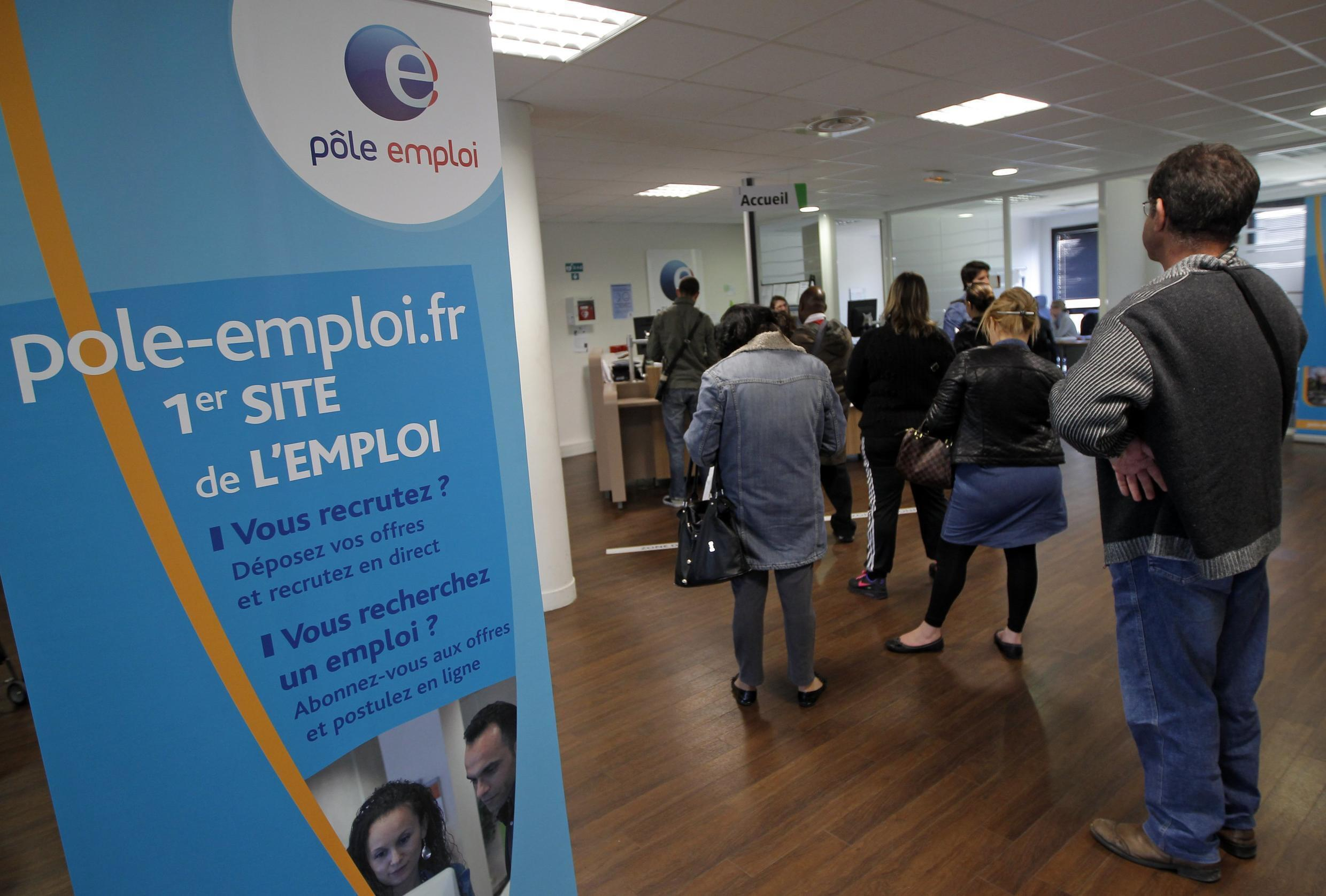 Job seekers inside a National Agency for Employment . File 2013