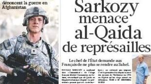 Capa da edição de 27 de julho de 2010 do jornal Le Figaro.