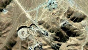 تصویر ماهواره ای از تأسیسات فردو