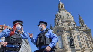 新冠疫情中的德国警察 2020年4月20日