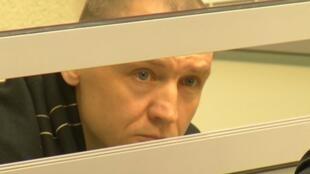 Eston Kohver trong phiên tòa ở Pskov, Nga ngày 02/06/2015.