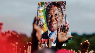 Des partisans du Mouvement pour le changement démocratique (MDC), le parti de Morgan Tsvangirai, lors d'une cérémonie d'hommage à leur leader, le 19 février 2018 à Harare.