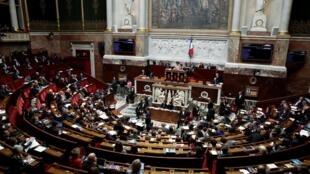 A Assembleia Nacional francesa em 3 de março de 2020.