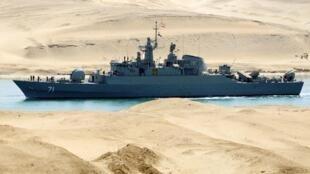 Uno de los buques iraníes que entraron en aguas internacionales del Mediterraneo el 18 de febrero del 2012, tras cruzar el Canal de Suéz