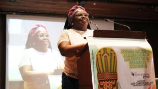 Clemencia Carabalí, presidente de l'ASOM (Association des femmes afro-colombiennes du Nord-Cauca) a reçu le prix « défenseur droits de l'Homme Colombie » cette semaine.