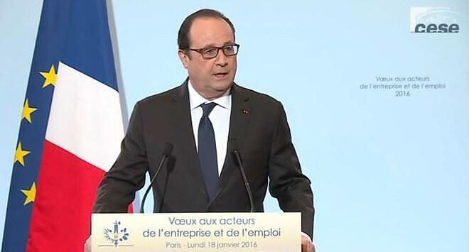 Presidente  Hollande Janeiro 2016