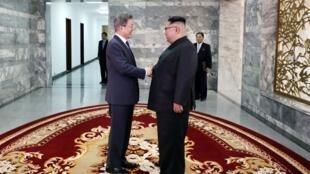韓國總統文在寅和朝鮮領導人金正恩再次會面,2018年5月26