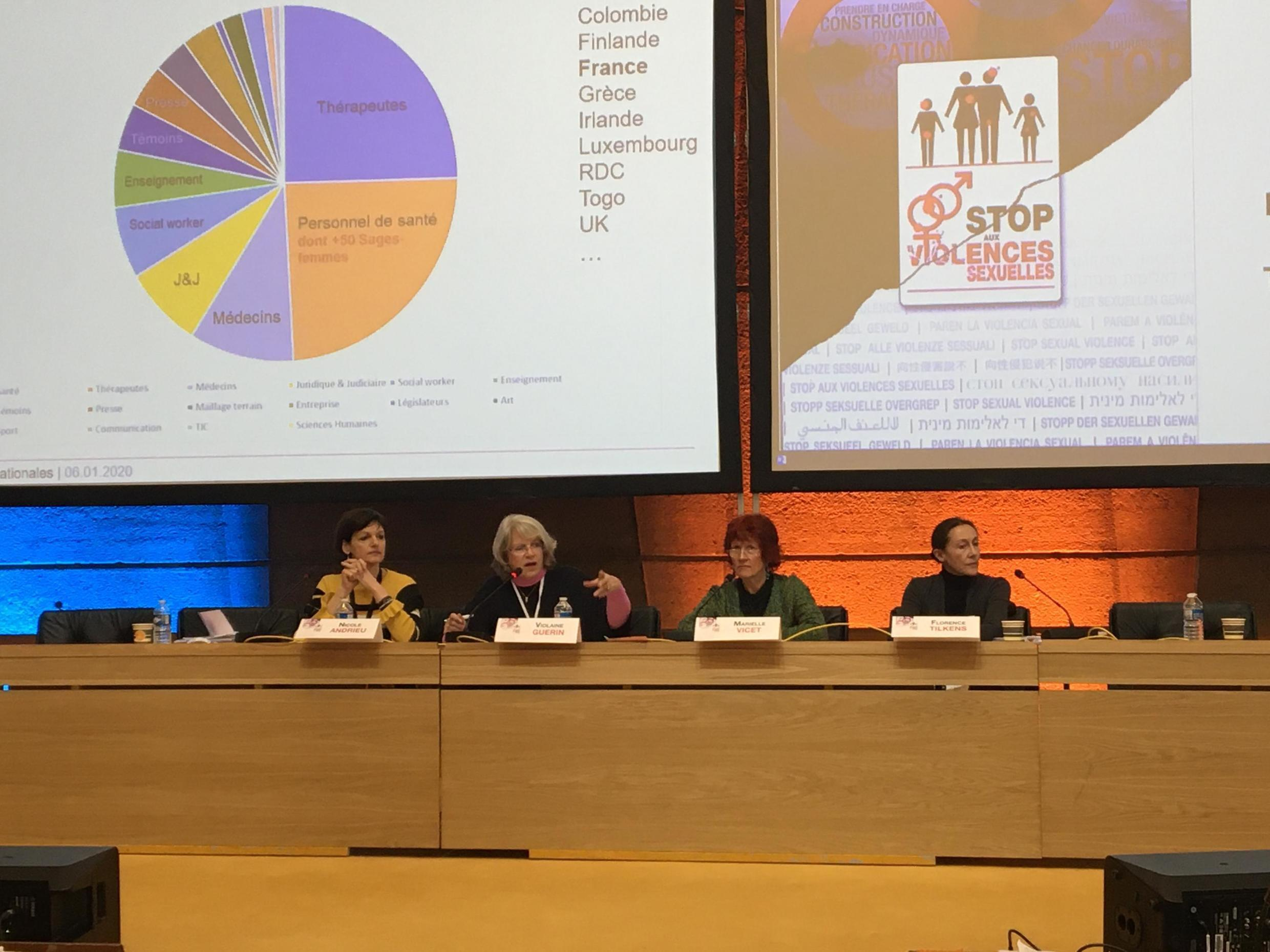 Doctors and health professionals gather for the seventh international conference on sexual violence at Paris' Unesco headquarters, 6 January 2020