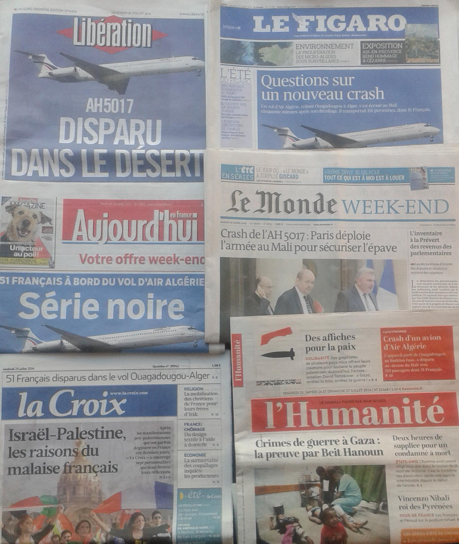 Imprensa diária francesa - 25.7.2014