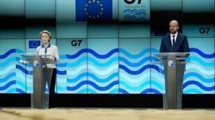European Commission president Ursula von der Leyen says she will bring up the row when she and fellow EU chief Charles Michel meet Boris Johnson