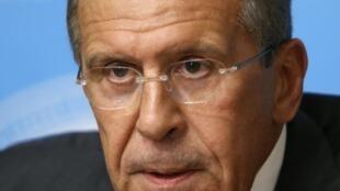 Sergueï Lavrov, ministre russe des Affaires étrangères, lors d'une conférence de presse à Moscou, le 9 septembre 2013.