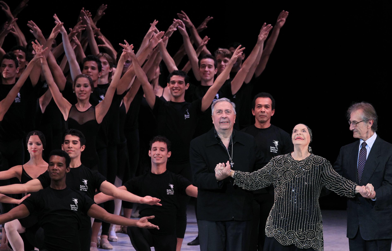 L'hommage du Ballet nacional de Cuba à la «prima ballerina assoluta», Alicia Alonso, le 28 octobre 2012.