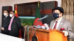 孟加拉国外长与中方大使等人出席活动资料图片