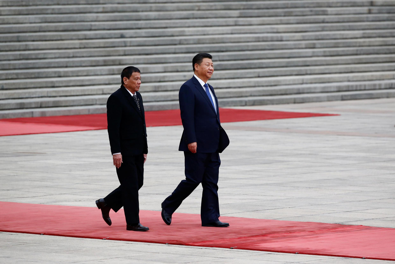 圖為菲律賓總統杜特爾特2016年10月訪問中國