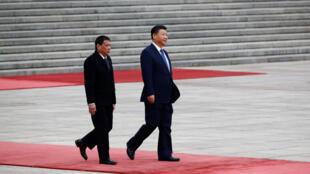 圖為菲律賓總統杜特爾特訪問中國
