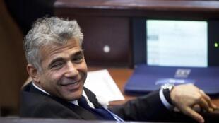 Yair Lapid (ici à la Knesset en 2013) a été reçu par le chef de l'Etat français.