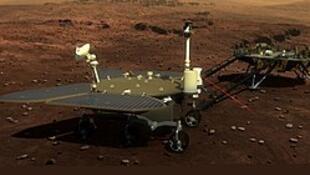 中國火星開發天問一號着陸巡視器所載祝融號火星車 資料照片