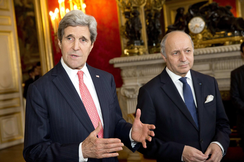 Совместная пресс-конференция Джона Керри и Лорана Фабиуса об Украине в Париже 19/02/2014