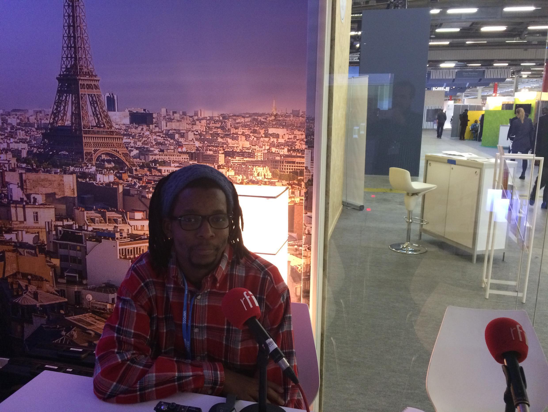 Samuel Mondlane, da ong moçambicana Justiça ambiental, na COP21 em Paris a 5 de Dezembro de 2015