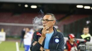 Tsohon kocin kungiyar Napoli, mai horas da Juventus a yanzu, Maurizio Sarri.