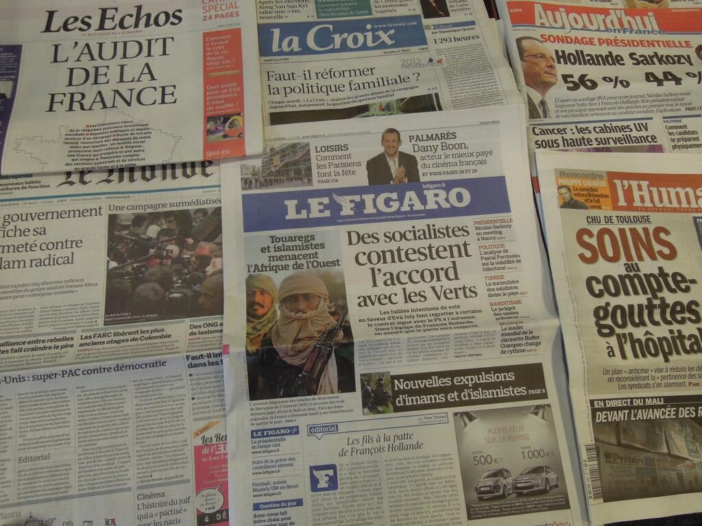 Diários franceses    03/04/2012