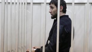 Zaour Dadaïev, le principal suspect, selon les autorités russes, au palais de justice de Moscou, le 8 mars 2015.