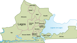 Map of the local government areas of Lagos