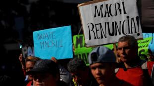 Manifestation contre les mesures d'austérité appliquées par le gouvernement du président Macri, le 6 septembre 2018 à Buenos Aires.