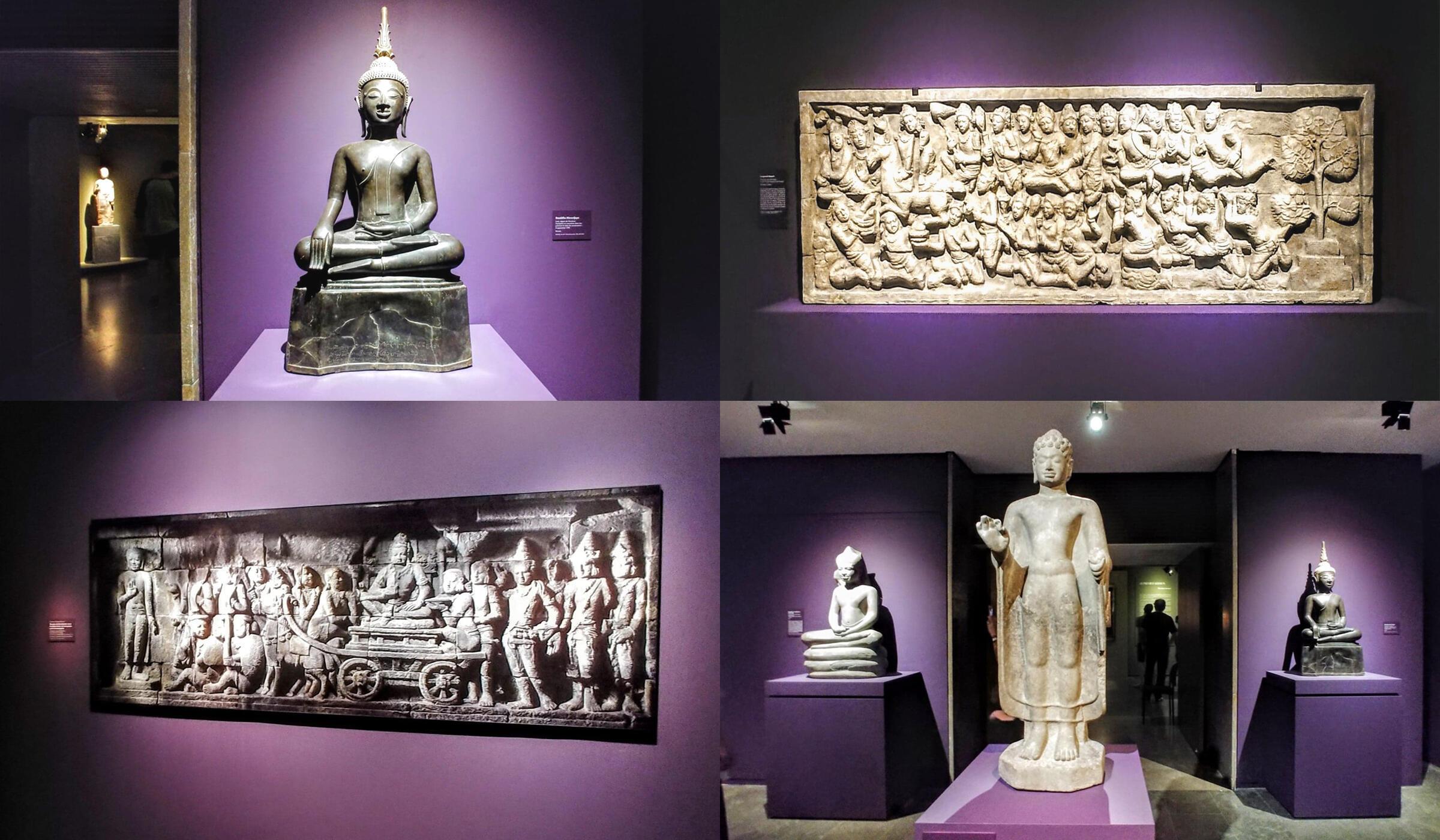 159 tác phẩm đủ loại đề cao các giai đoạn hưng thịnh, rực rỡ nhất lịch sử Phật giáo