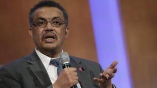O etíope Tedros Adhanom Ghebreyesus, novo diretor-geral da OMS.